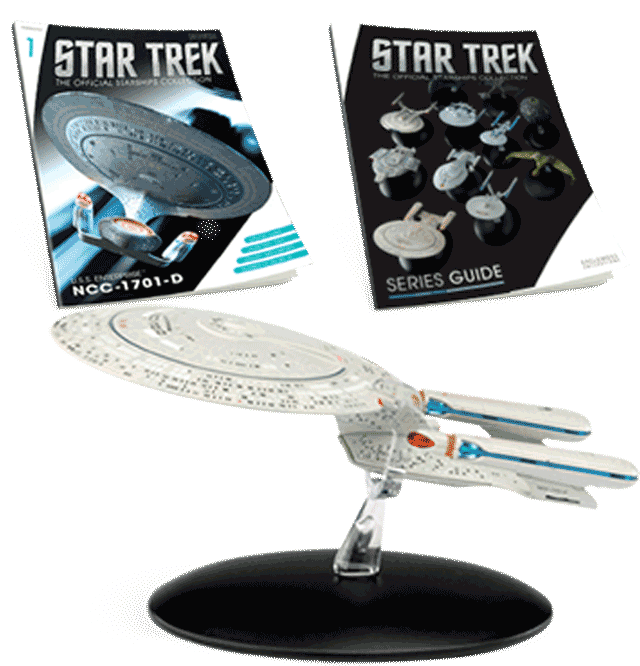 U.S.S. Enterprise NCC-1701-D + Collector's Magazine