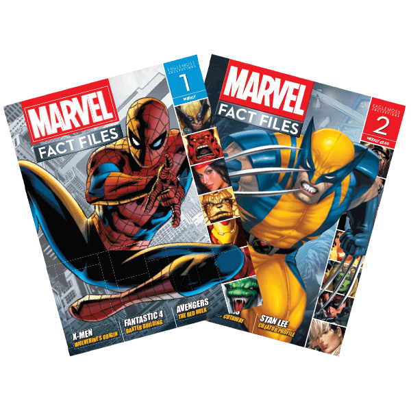 Marvel Fact Files Issues 1 (Spider-Man) & 2 (Wolverine)