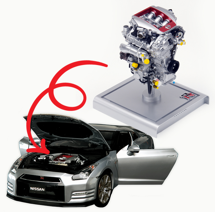 Nissan-engine-image-with-car