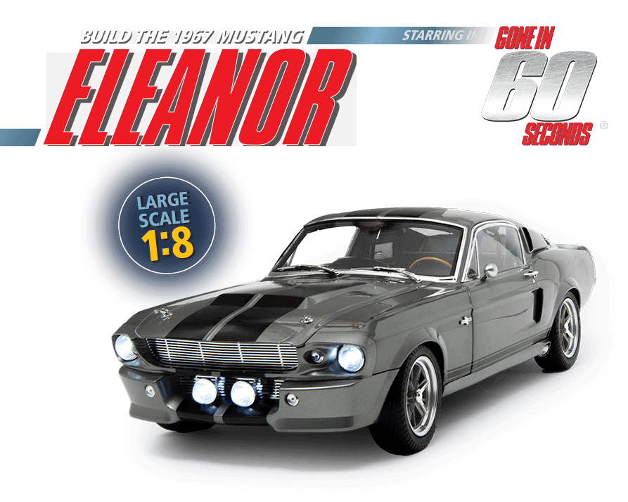 1:8 scale replica of the Eleanor Mustang car