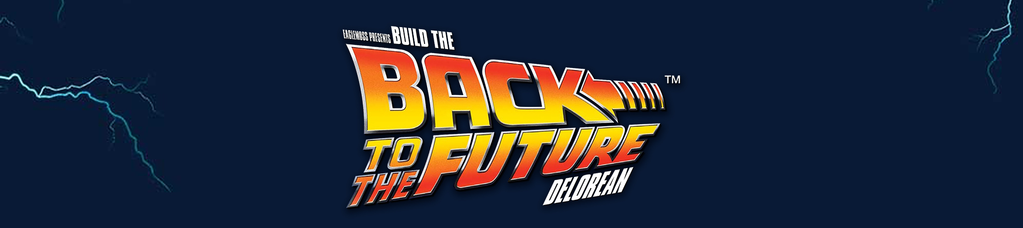Back to the Future DeLorean banner