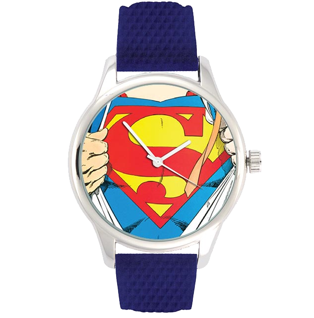 Superman Man of Steel Watch (DC Comics Classic Comic Art Series)
