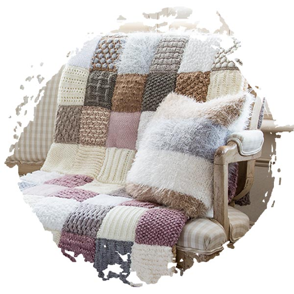 Knit & Stitch throw