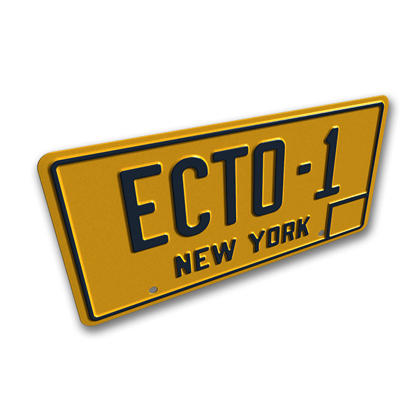 Ecto-1 Number Plate