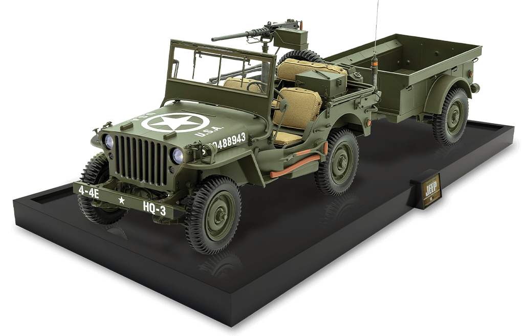Jeep willys 1:43 die cast scale model