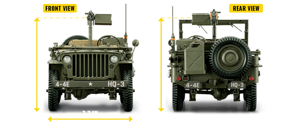Jeep willys front and back