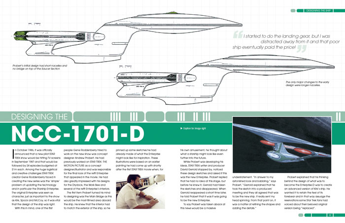 Enterprise NCC-1701-D Design Sketch