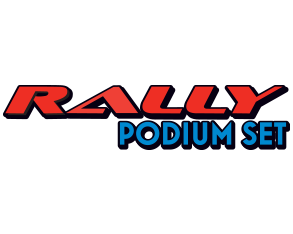 rally podium set logo