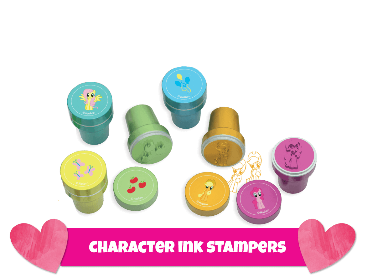 Character ink stampers