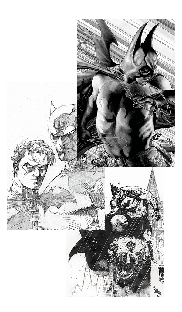 THREE BATMAN ART PRINTS