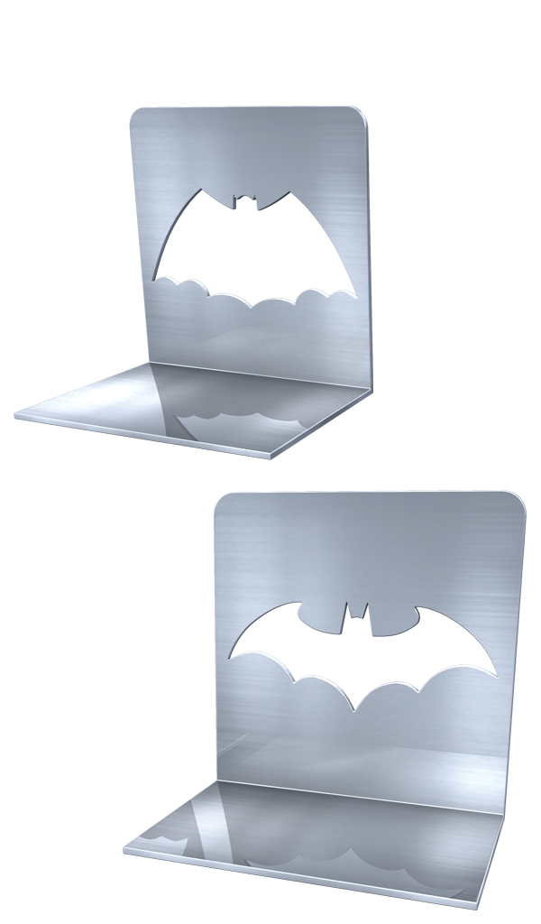 METAL BATMAN BOOKENDS
