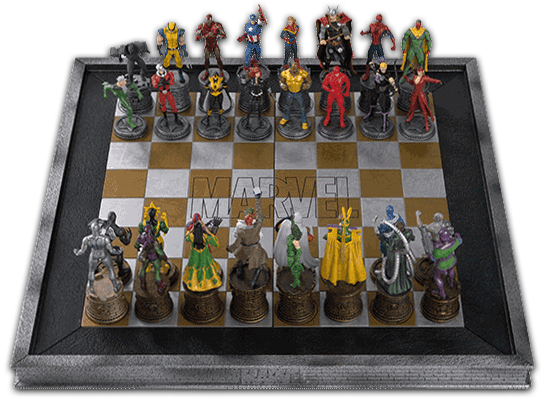 EAGLEMOSS DC CHESS SET SPECIAL EDITION CHESS BOARDS AND BINDERS FROM SET 1 /& 2