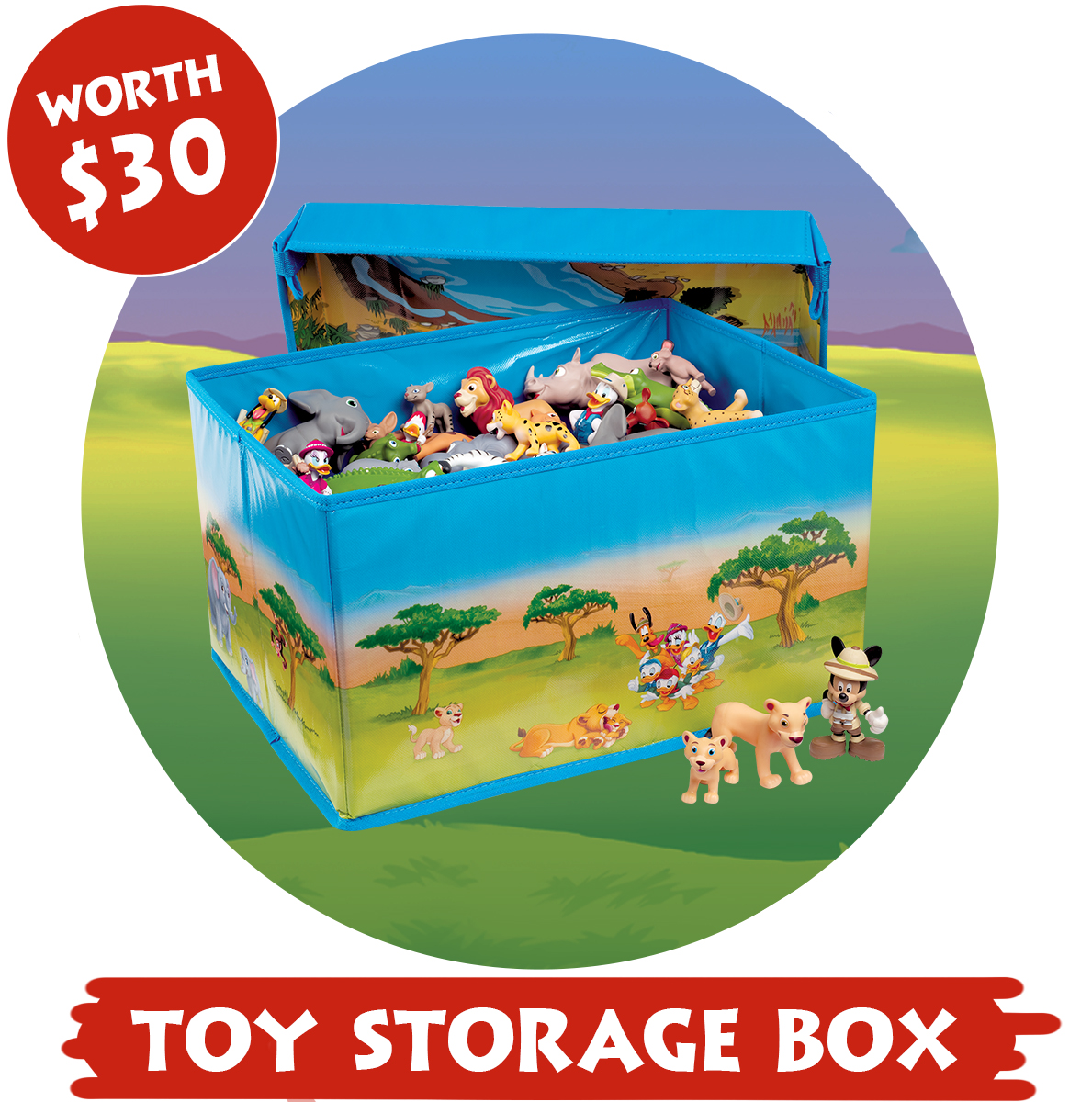 colorful toy storage box
