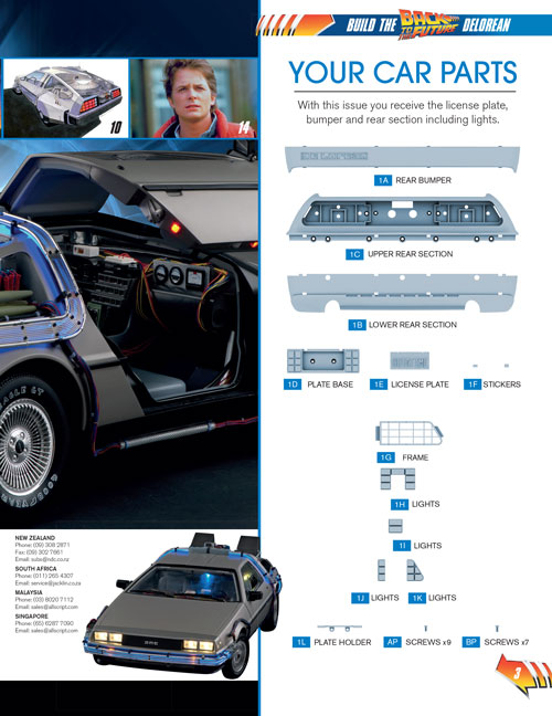 Delorean scale model