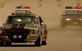 Eleanor Mustang being followed by US police cars