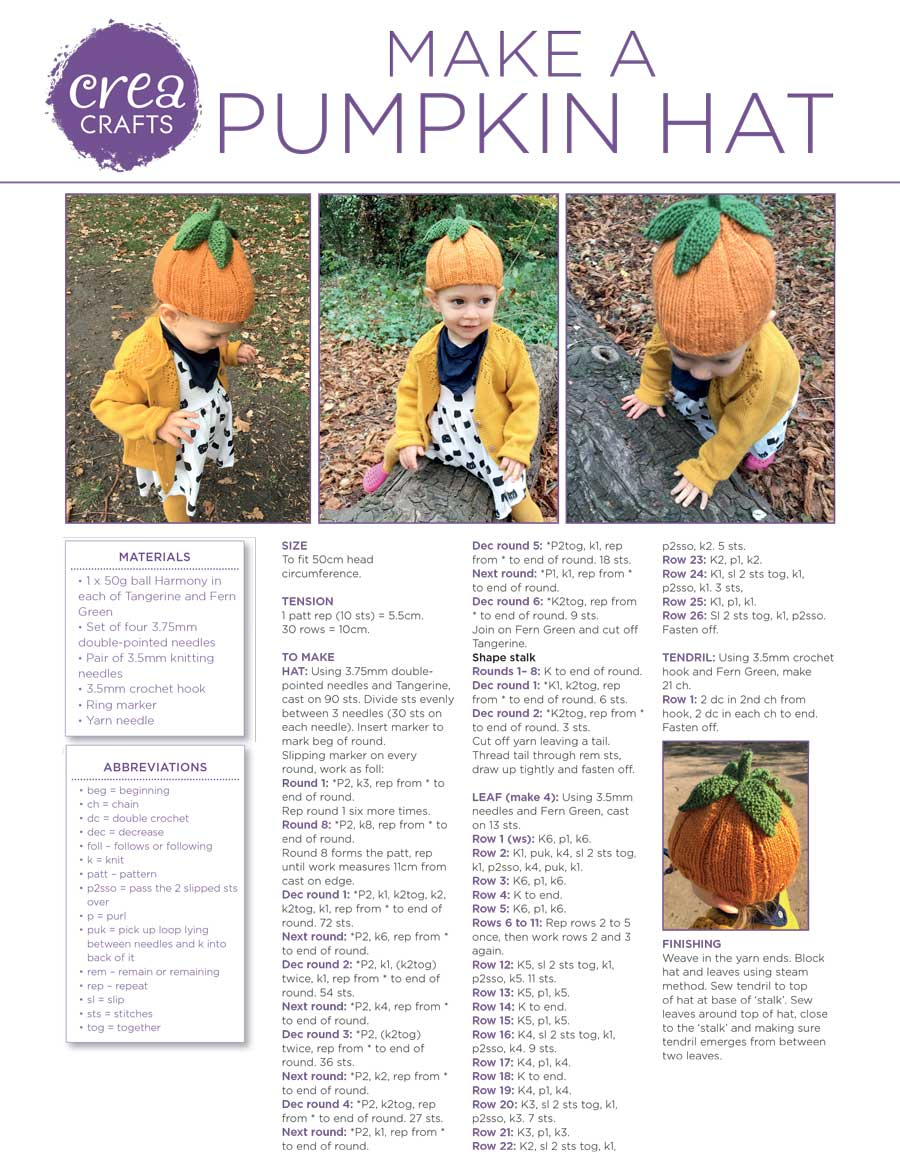 Make a Pumpkin Hat