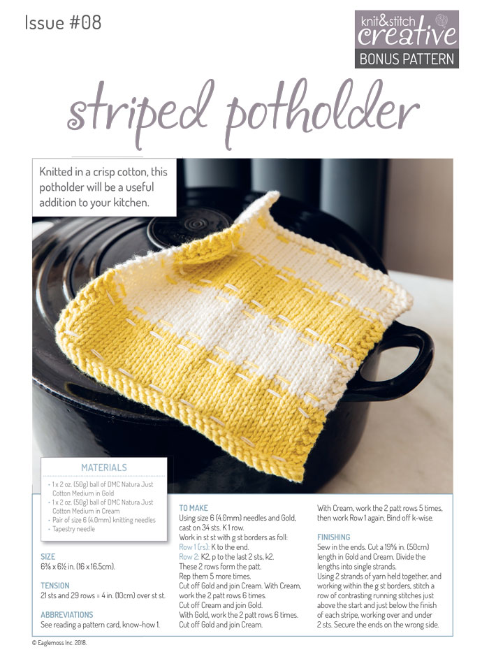 Striped Potholder